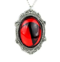 Gothic Victorian Red Stone Vampire Necklace Jewelry