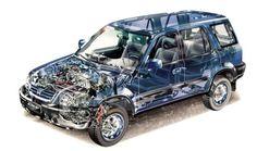 Honda CR-V (RD1) cars suv cutaway 1996