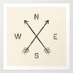 Compass (Natural) Art Print by Zach Terrell - $17.00