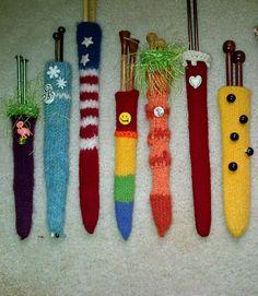 Free knitting pattern for Mrs. Carter's Needleholders
