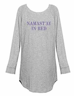 8c0ba4e5699e Emi-Jay Women s I Wish You Looked At Me Night Shirt S M Grey Pink  So soft  and cozy that you won t want to wear anything else! Our long-sleeved  Nightshirt ...