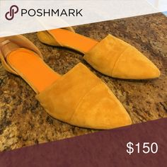Jenni Kayne Suede Mustard D'Orsay Flats Gently worn (4-5 times), 100% suede. Jenni Kayne. In excellent condition. Jenni Kayne Shoes Flats & Loafers