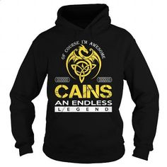 CAINS An Endless Legend (Dragon) - Last Name, Surname T-Shirt - #anniversary gift #hoodie. PURCHASE NOW => https://www.sunfrog.com/Names/CAINS-An-Endless-Legend-Dragon--Last-Name-Surname-T-Shirt-Black-Hoodie.html?id=60505