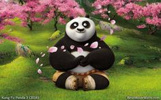 #Po finding his center by #meditating :] Relaxing and calming green background for you!  #KFP3