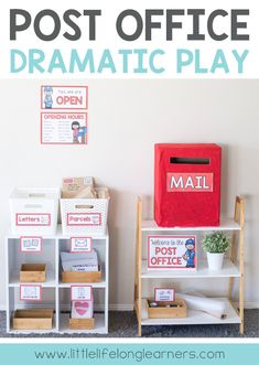 Post Office Dramatic Play for letter writing unit of work   Prep and Foundation letter writing   Write a letter or post a postcard   Imaginative play ideas for the early childhood classroom   Printables for Australian Teachers - Prep, Foundation, Kindergarten and Toddler play ideas  