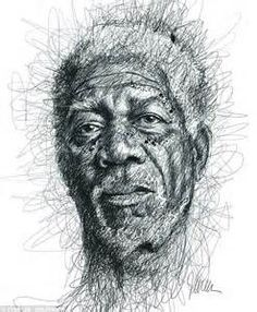 Artist Vince Low has turned once-aimless doodling into Scribble Art, which is an advanced art form of penmanship. Described as Scribbles with life, Vince Low's works are invariably in portrait form. Face Sketch, Drawing Sketches, Art Drawings, Pencil Drawings, Figure Drawings, Drawing Style, Drawing Faces, Portrait Au Crayon, Pencil Portrait