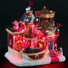 Village de Noël lumineux Palais enneigé