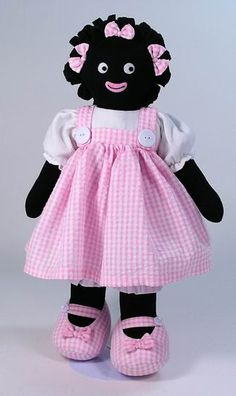 golliwogs Doll Clothes Patterns, Doll Patterns, Knitting Patterns, Crochet Patterns, Sewing Crafts, Sewing Projects, Raggedy Ann And Andy, Old Dolls, Knitted Dolls