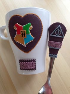 Harry potter polymer clay mug & spoon