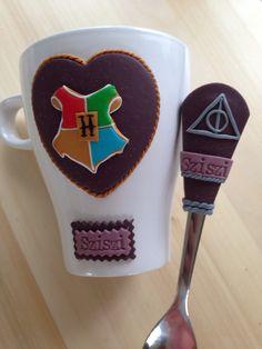 Harry potter polymer clay mug & spoon