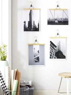 25 examples of how to display photos on your walls display family photos display and walls. Black Bedroom Furniture Sets. Home Design Ideas