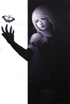 Banner Holding Butterfly Nier Automata by Auralanity on DeviantArt Anime Artwork, Cool Artwork, Artwork Drawings, Nier Automata A2, A2 Nier, Style Anime, Anime Art Girl, Female Art, Game Art