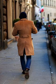 On the Steet....For a Smaller Waist Go For Strong Shouders, Florence..........The Sartorialist