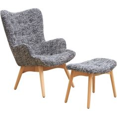 Contour Armchair & Footstool - Snow Schots - $695