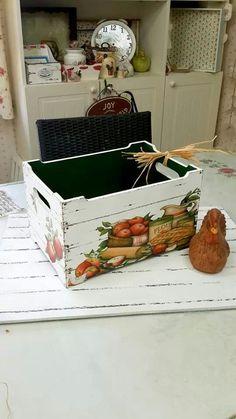 lovely decoupage box for veggies