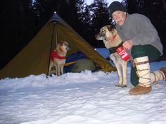 Lou Palmersten entry of Kai, Augie & himself in the BWCAW, Minnesota  mukluks.com