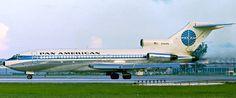 "Pan American World Airways Boeing 727-21C N342PA ""Jet Clipper Golden Age"" at Berlin-Tempelhof, June 1968. (Photo: Bob Garrard)"