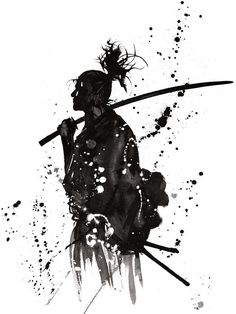- The samurai are the ancient noble class of feudal Japan. Seen here is the prof. Samurai Drawing, Samurai Artwork, Japanese Drawings, Japanese Artwork, Japanese Tattoos, Japanese Painting, Chinese Painting, Chinese Art, Ronin Samurai