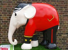 Elephant Parade in London, England,  2010