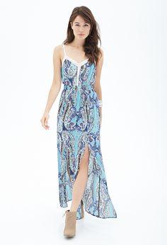 Paisley M-Slit Maxi Dress | FOREVER21 - 2000087170