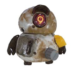 時を刻むオブジェでありながら、時が経つのを忘れさせるロボット型時計オブジェ。【RBD965-20 Kevin】(ケヴィン)陶製のフレームにニキシー管をはじめと...|ハンドメイド、手作り、手仕事品の通販・販売・購入ならCreema。