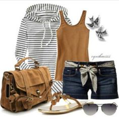 summer outfits my-style Look Fashion, Fashion Outfits, Womens Fashion, Fashion Shorts, 3d Fashion, Fashion Clothes, Fall Fashion, Fashion Ideas, Summer Outfits Women