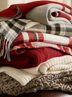 wool plaids and knits.