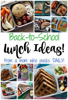 Gluten Free & Allergy Friendly: Lunch Made Easy: Back to School Ideas!