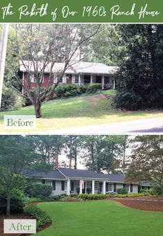 Rebirth: Our Ranch House Exterior Remodel - Redeem Your Ground Ranch Exterior, Exterior Remodel, Exterior Paint, Exterior Stairs, Modern Exterior, Exterior Design, Layout Design, Design Ideas, Design Concepts