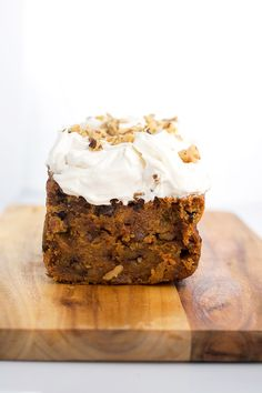 Super Moist Vegan Carrot Cake - a delicious Carrot Cake topped with an Orange Scented Cream Cheese icing. 100% Vegan.