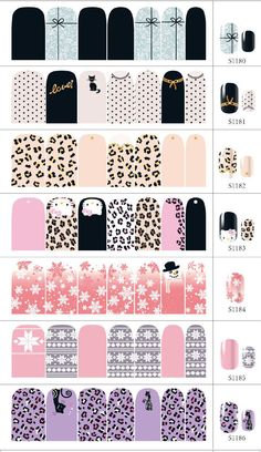 6 Sheet 3D Design Tip DIY Nail Art Nail Sticker Nail Decal Christmas Halloween nail tools Wholesale Free Shipping-in Stickers & Decals from Beauty & Health on Aliexpress.com | Alibaba Group