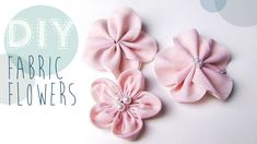DIY kanzashi Stoffblumen Stoff-Blumen selber machen