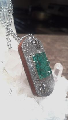 Colombian Emeralds   '' Dog Tags  by SulaneverydayArt on Etsy