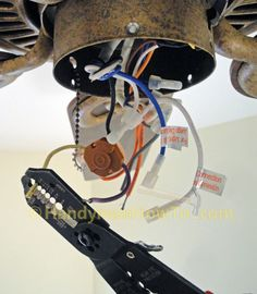 fix a blown ceiling fan capacitor | Housekeeping | Ceiling fan motor, Ceiling fan switch