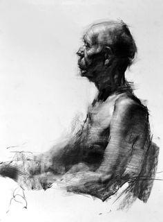 "Saatchi Art Artist Zin Lim; Drawing, ""Figure#D02"" #art"