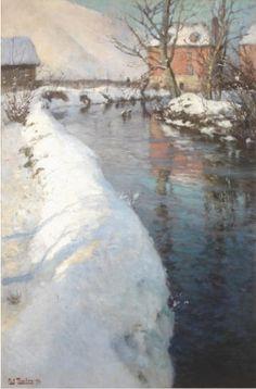 Frits Thaulow, Vinterlandskap med elv