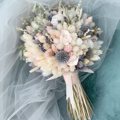 Bridal Bouquet Preserved and Dried flowers Wedding Bouquet Bridesmaids Bouquet Wedding Flowers Boutonniere Bridal Flower Bouquet Dried Flower Bouquet, Flower Bouquet Wedding, Dried Flowers, Fresh Flowers, How To Preserve Flowers, Faux Flowers, Fabric Flowers, Bride Bouquets, Bridesmaid Bouquets
