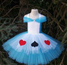 Alice In Wonderland Inspired Tutu Dress by TutuOclockSomewhere