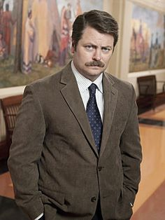 The man, the myth, the moustache - Parks and Rec