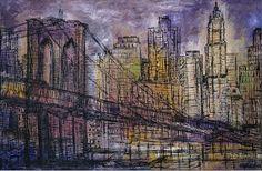 Brooklyn Bridge Opus 43_24 x 38_Oil on Linen