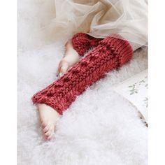 編み物レシピ(編み図) | 靴下/レギンス/レッグウォーマー | アラン模様のレッグウォーマー | 林 久仁子 - free knitting pattern - Japanese