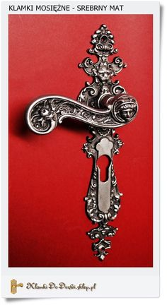 Klamki do drzwi drewnianych Mosiężne ręcznie odlewane i galwanizowane na stare srebro