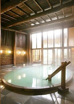 Kusatsu hot springs in Gunma, Japan. - Model Home Interior Design Gunma, Japanese Hot Springs, Deco Originale, Japanese House, Japanese Sauna, Japanese Style, Japan Travel, The Places Youll Go, Indoor