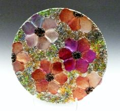Johnson, Garden Poppy Plate  can this be done using the plastic beads leaving voids for tissue flowers