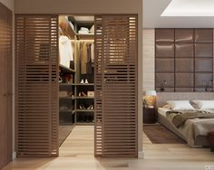 "Interieur im LCD ""Duderhof Club"" – Orawan Boonsanong – Zimmer Wardrobe Room, Wardrobe Design Bedroom, Home Room Design, Master Bedroom Design, Closet Bedroom, Home Decor Bedroom, Modern Bedroom, Home Interior Design, Master Bedrooms"