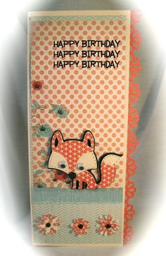 Love the use of patterned paper on the Create a Critter fox.