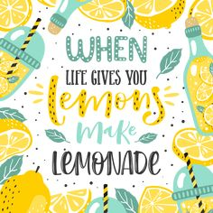 When life gives you lemons, make lemonade. *Love this homemade lemonade recipe for summer! This homemade lemonade is THE BEST. Lemon Quotes, Homemade Lemonade Recipes, Lemon Art, Graphisches Design, Typography Poster, Typography Alphabet, Typography Quotes, Typography Inspiration, Typography Design