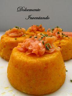Dolcemente Inventando : Flan di carote con straccetti di salmone affumicato