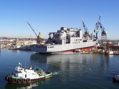 Launch at San Diego of US Military Sealift Command dry cargo/ammunition ship USNS Alan Shepard [T-AKE 3].