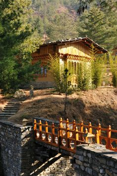 The luxurious Uma Paro lodge in Bhutan, one of the world's happiest countries.